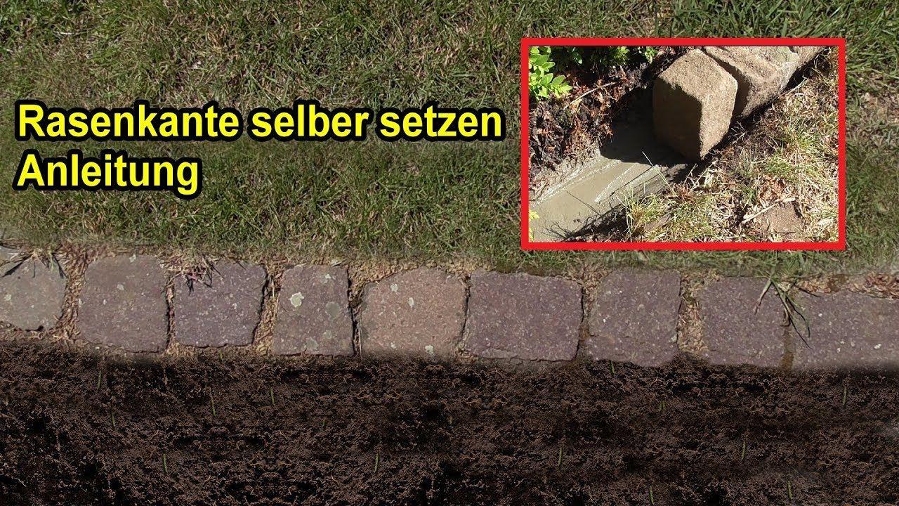 Rasenkante Aus Natursteinen Setzen Anleitung Rasenkanten Rasenkanten Ideen Rasen
