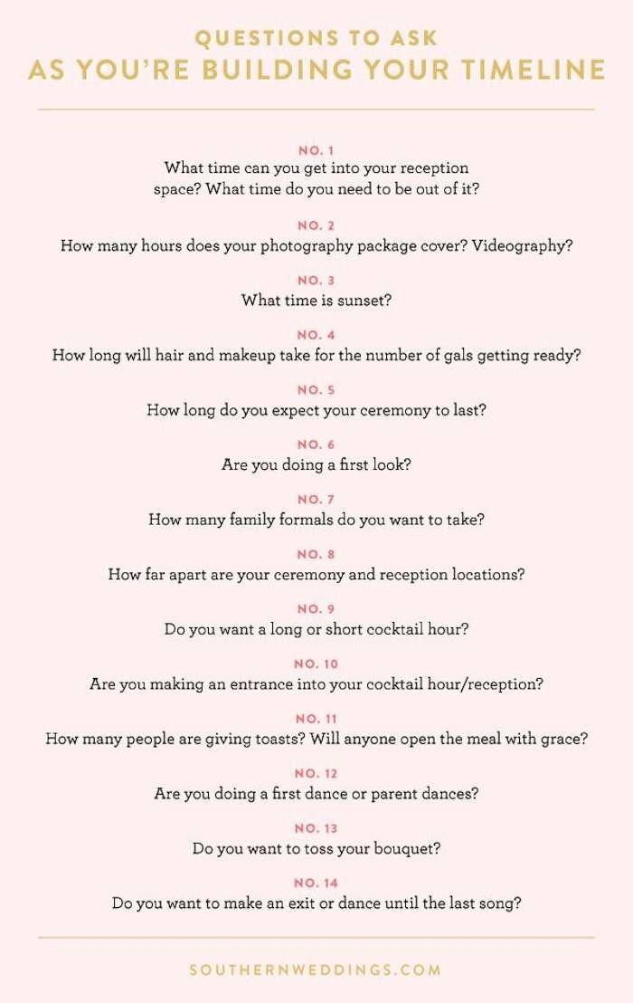 17 Best ideas about Reception Timeline on Pinterest | Wedding ...