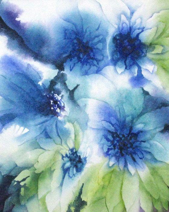 Abstract Watercolor Art Print Botanical Watercolor Painting Original Artwork Daisy Flower Print Ar Bloemen Aquarel Madeliefjes Schilderij Geschilderde Bloemen
