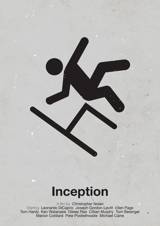 Pictogram movie posters by Viktor Hertz: Inception $61