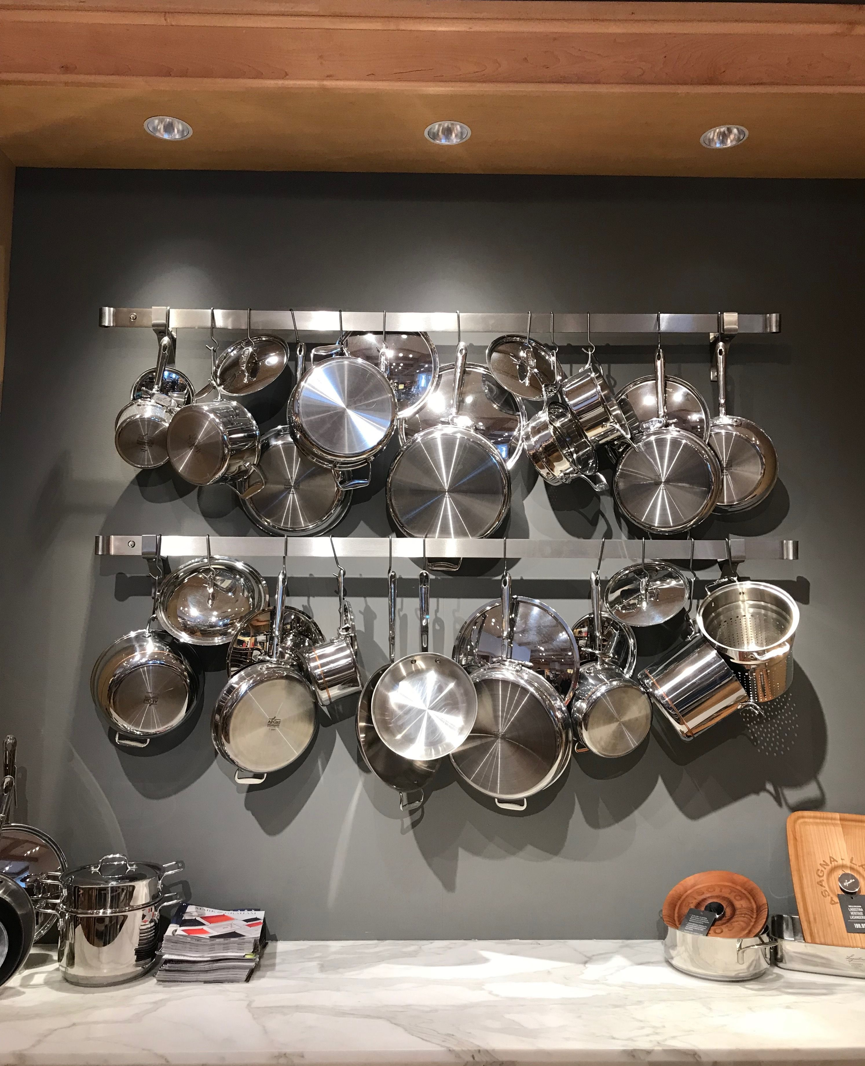 Enclume wall mount pot rack   All Clad   Williams Sonoma ...