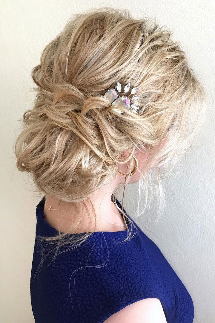 This Crown Braid with messy updo Hairstyle is perfect for summer wedding #weddinghair #braids #updo #weddingupdo