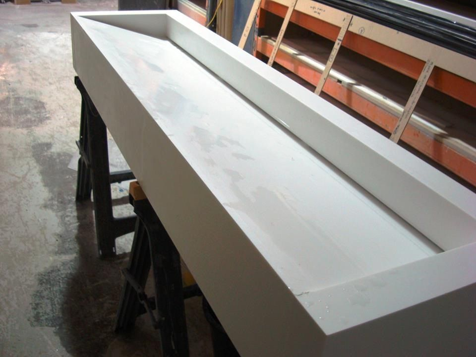 corian trough sink