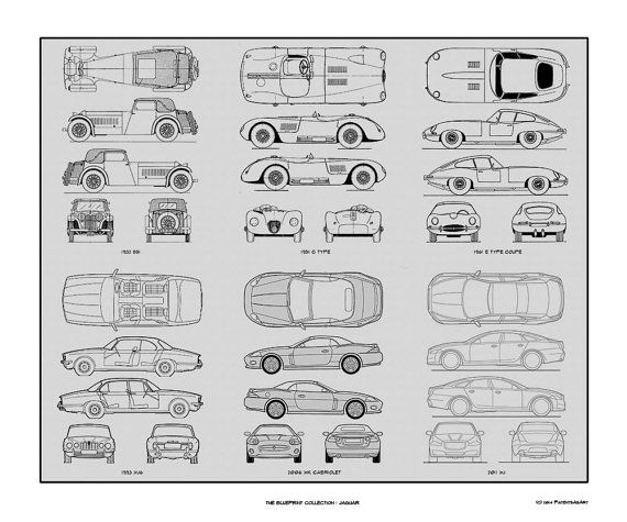Jaguar blueprint collection drawing art car by conceptproducts jaguar blueprint collection drawing art car by conceptproducts malvernweather Choice Image