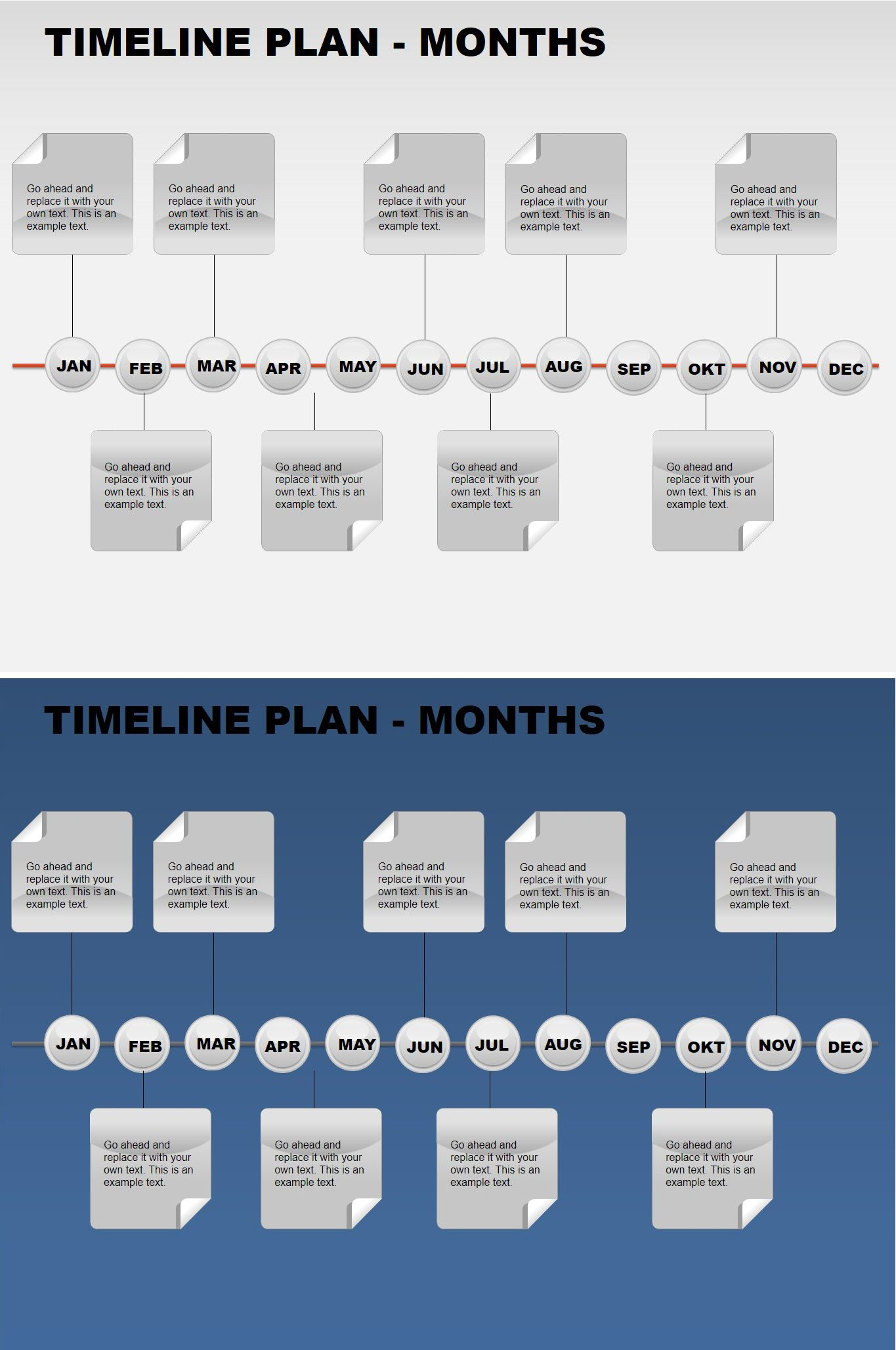 Free Timeline Plan Months Powerpoint Charts Free Charts