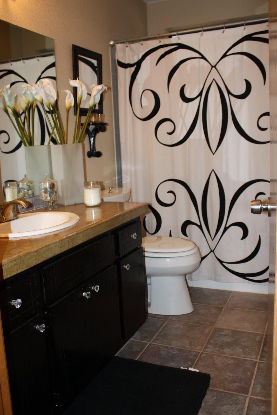 Oak cabinets painted black house ideas pinterest - Painting bathroom cabinets black ...