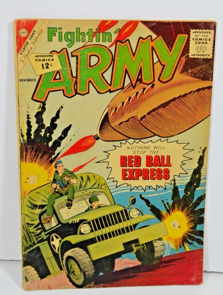 Charlton Comics Fightin Army November 1962 Old Vintage Comic