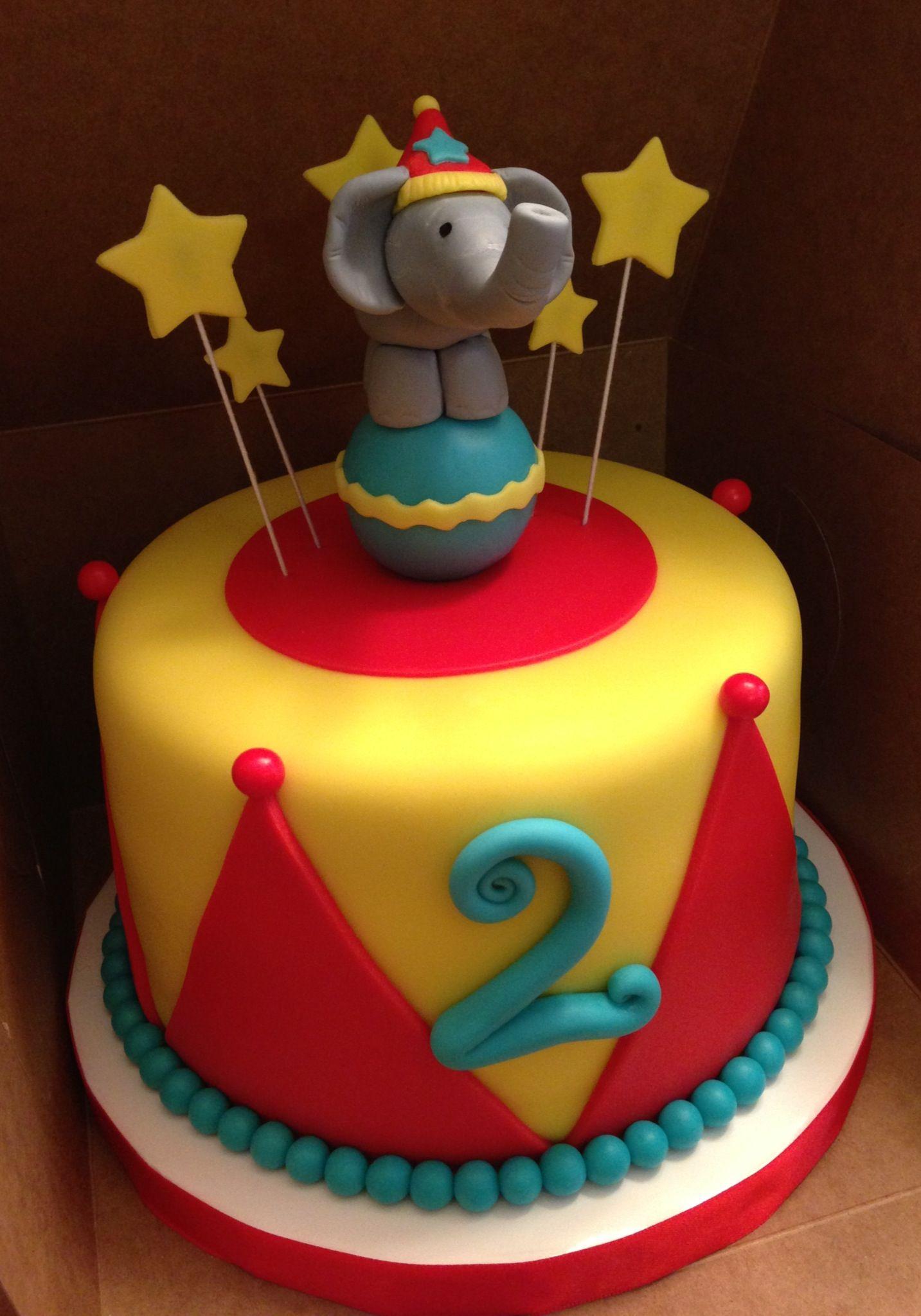 Circus Themed Cake All Fondant Karen Reeves Custom