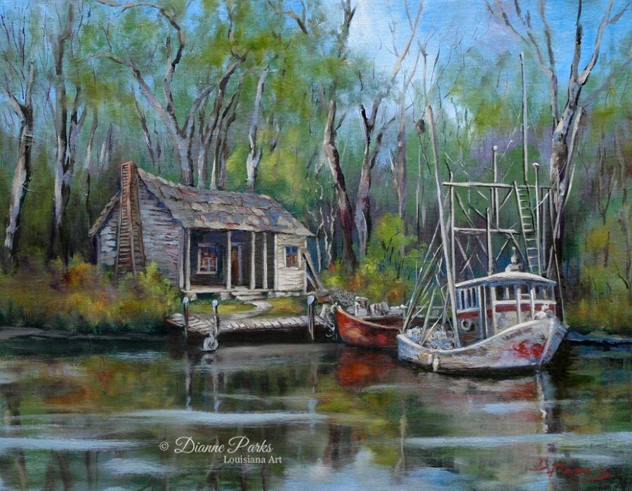Louisiana Swamp Cabins   New Orleans Arts Market » Dianne ...