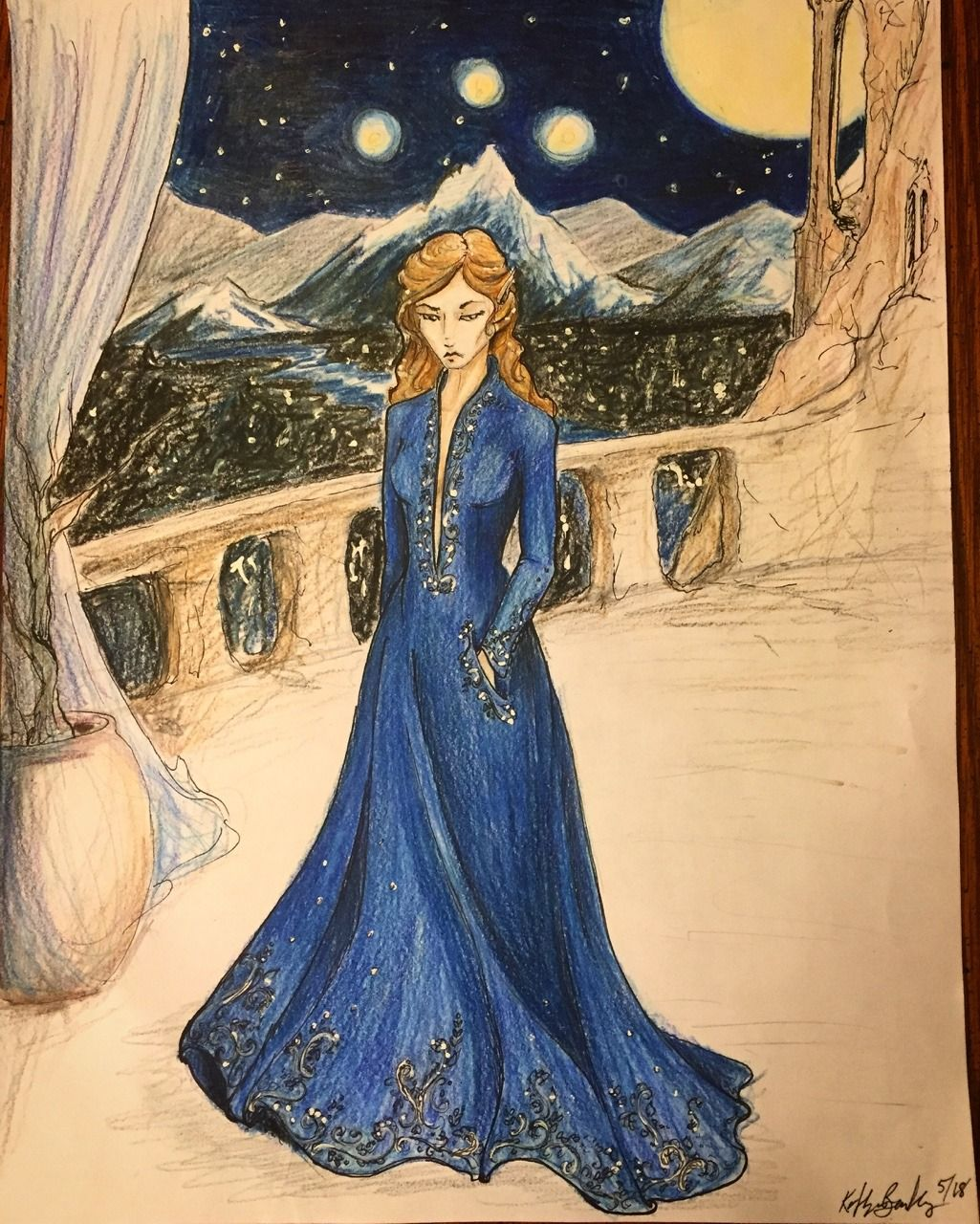 Really Love The Dress Here Dinner At The House Of Wind Feyre In