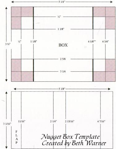 nugget_box_template (Small).jpg; 375 x 480 (@100%) | Paper Crafts ...