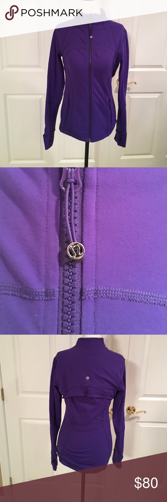 Lululemon purple forum jacket. Great condition. Only worn a few times. lululemon athletica Tops Sweatshirts & Hoodies