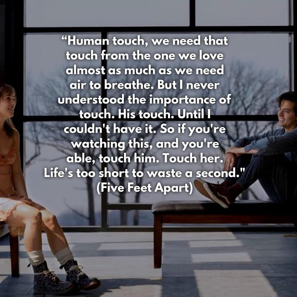 ️ ️ A Beautiful Quote From Five Feet Apart. . #colesprouse