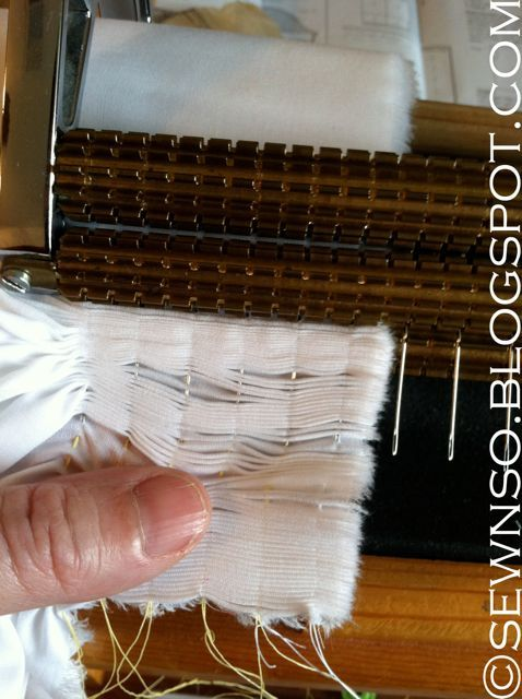 There are a few ways to pleat fabric for smocking, but the