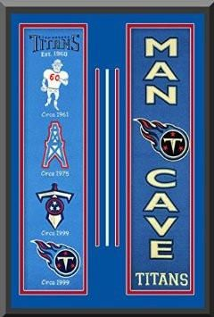 ea51e850 Tennessee Titans Heritage And Man Cave Banners Double Matted Framed ...
