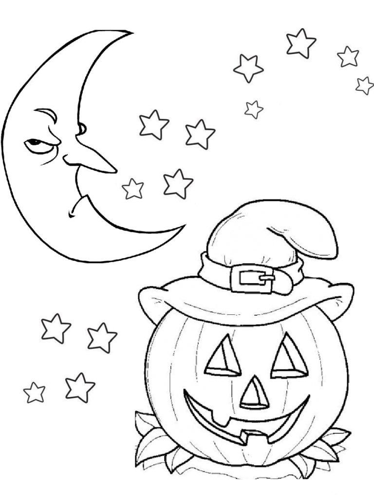 Pumpkin Halloween Coloring Pages Scary Moon And Pumpkin Carving Halloween C Halloween Coloring Pictures Halloween Coloring Pages Scary Halloween Coloring Pages [ 1024 x 768 Pixel ]