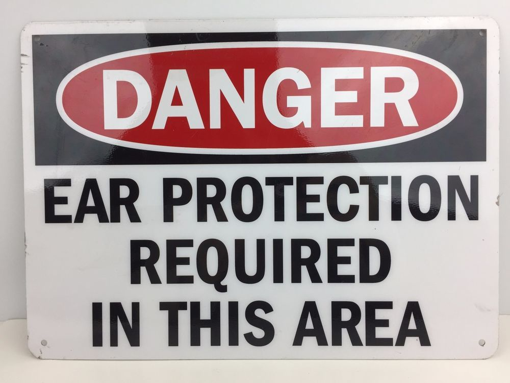 Danger Ear Protection Required In This Area Metal Sign 14 X 10 Inch Unbranded Authorized Personnel Only Signs