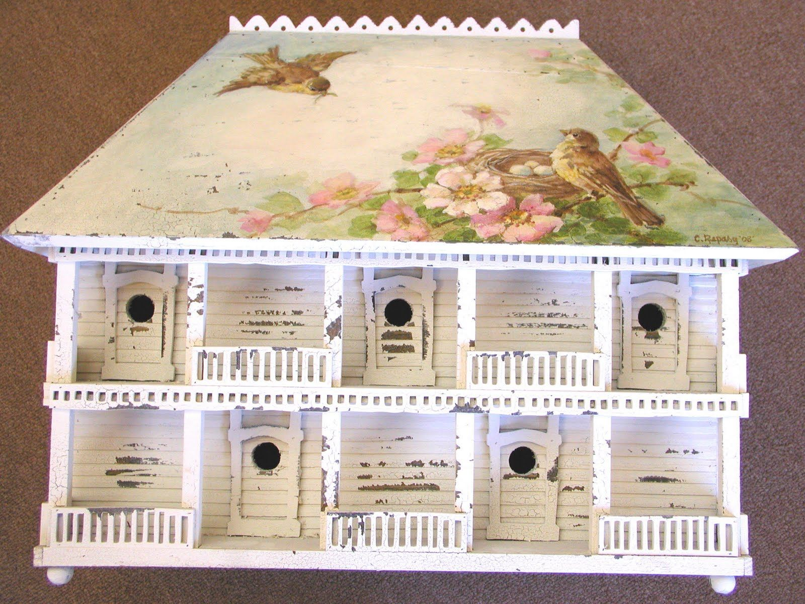 Can you believe it? This exquisite Plantation bird house is by none other than the magnificent Christie Repasy!