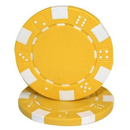 50 Clay Composite Dice Striped 11.5-Gram Poker Chips