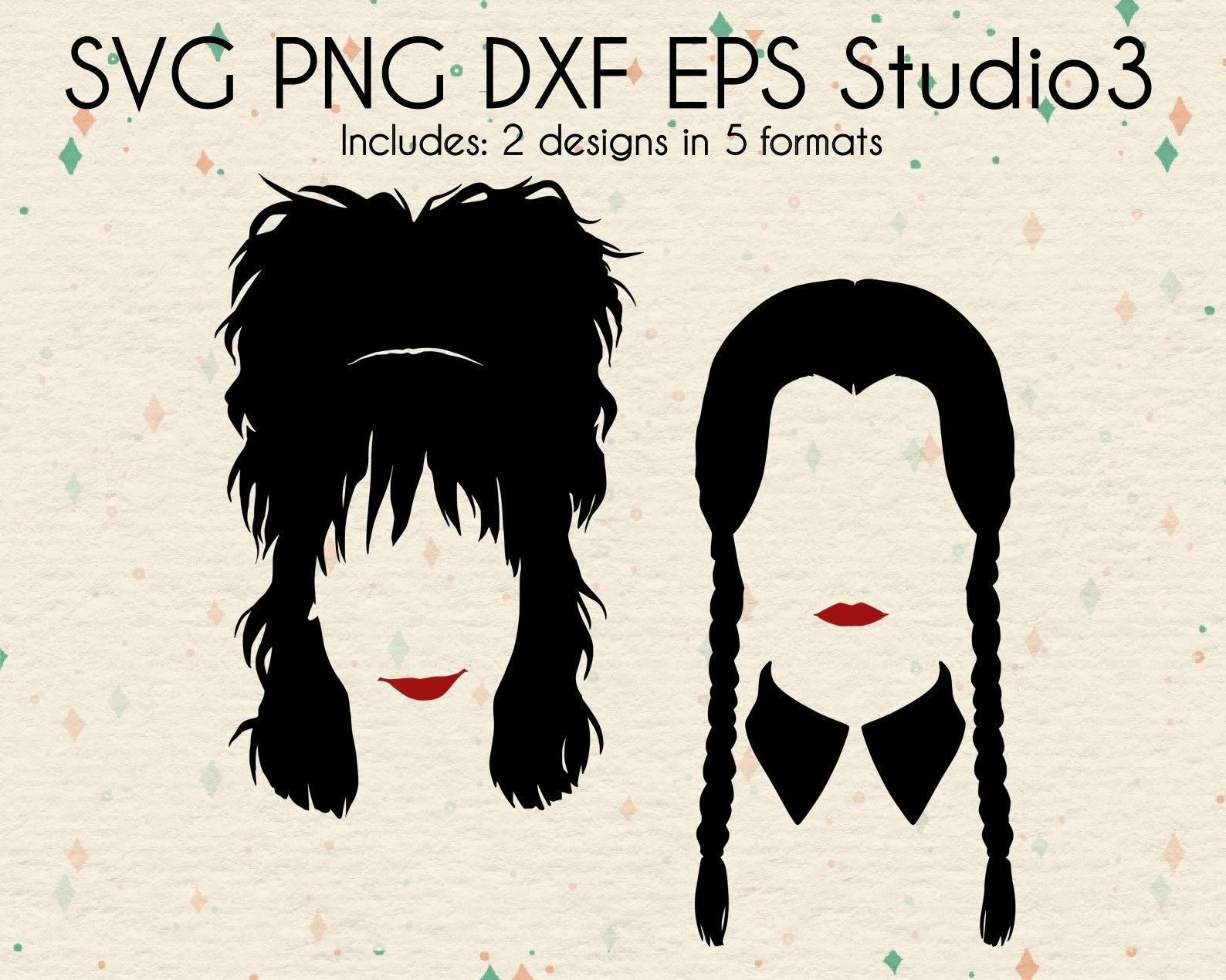 Lydia Deetz & Wednesday Addams SVG Files Beetlejuice