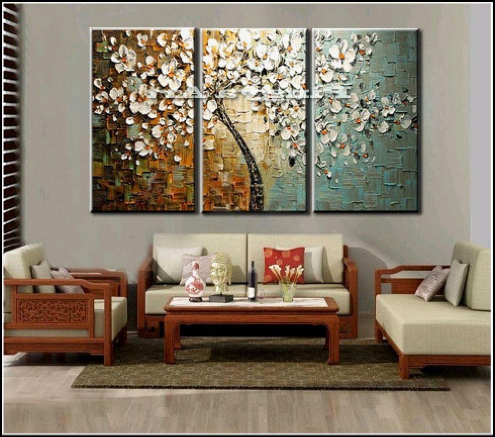 schöne wandbilder wohnzimmer  Wall decor living room modern, Wall