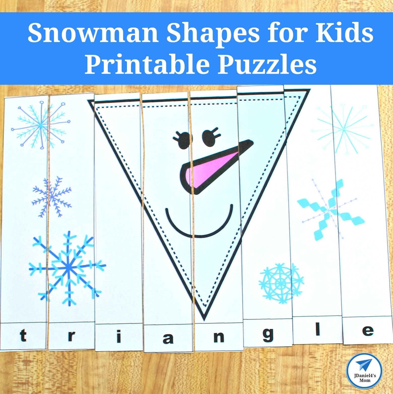 Snowman Shapes For Kids Printable Puzzles With Images