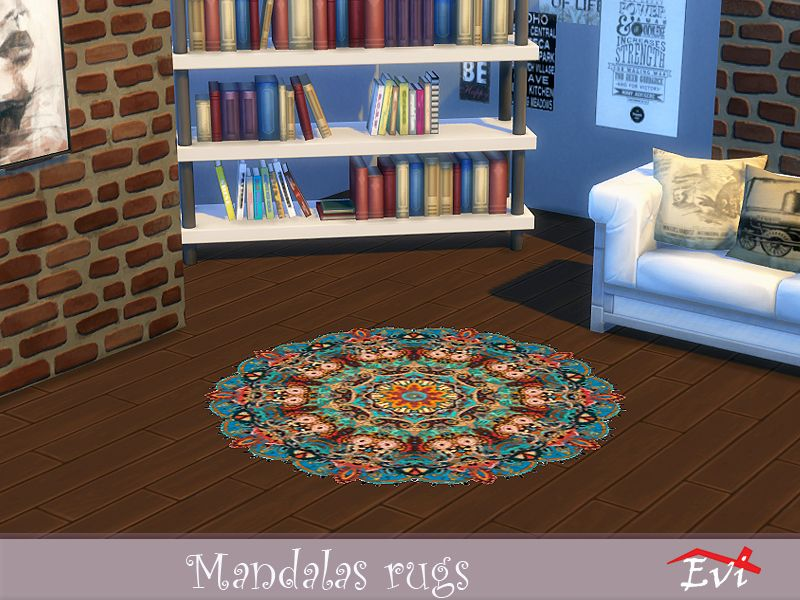 Round Colourful Rugs For Cozy House Decoration Found In Tsr Category Sims 4 Rug Recolors