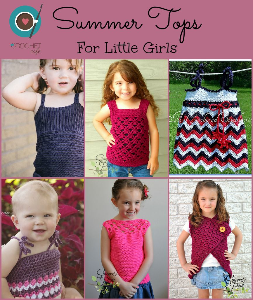 b9f2a97dc59ab Summer crochet tanks and tops for little girls