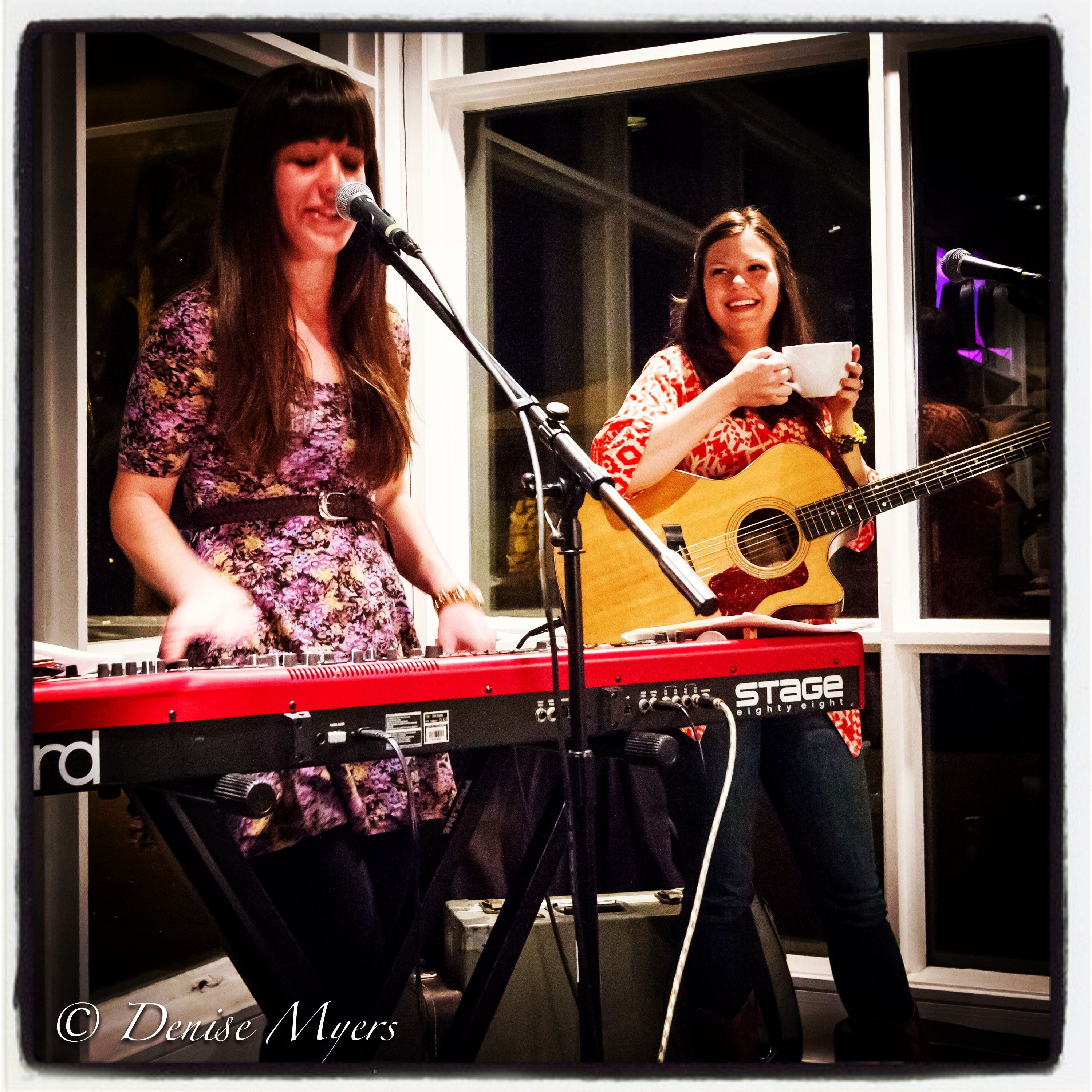 2-9-2013 Good music, good coffee, and a good night thanks to Sara Beth Go, Jessica Campbell, and Sola.