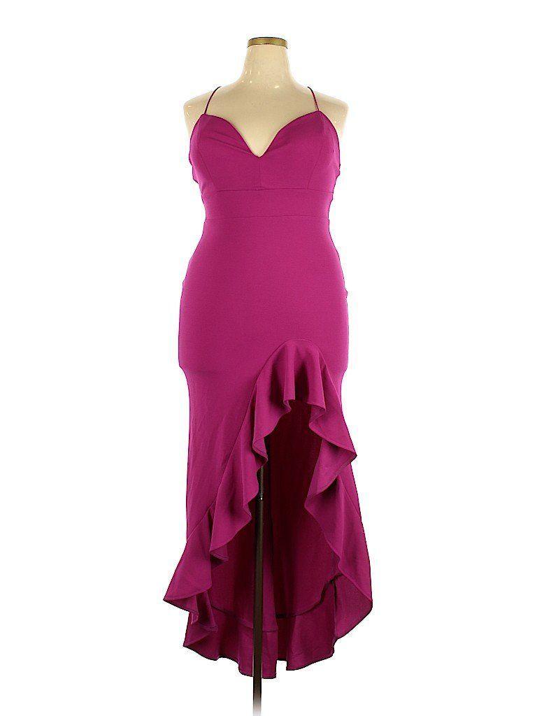 Fashion Nova Cocktail Dress Formal Pink Solid Dresses