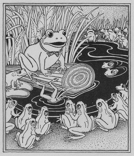 The Frog School ill by Marion H. Matchitt (1933), via Flickr.