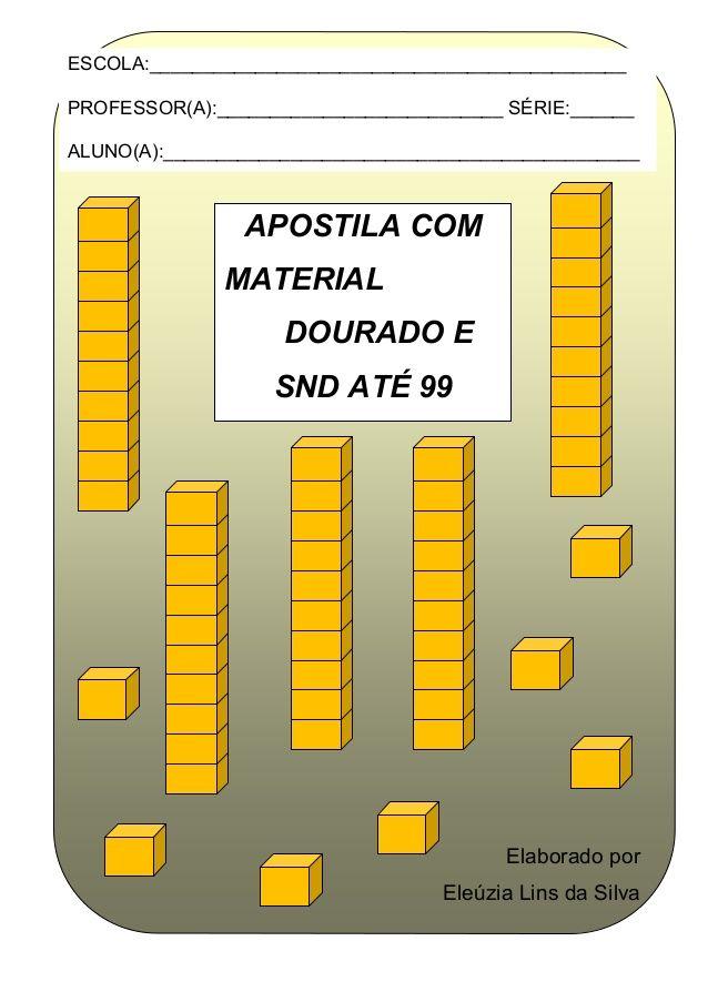Apostila Com Material Dourado E Snd 2014 Sistema De Numeracao
