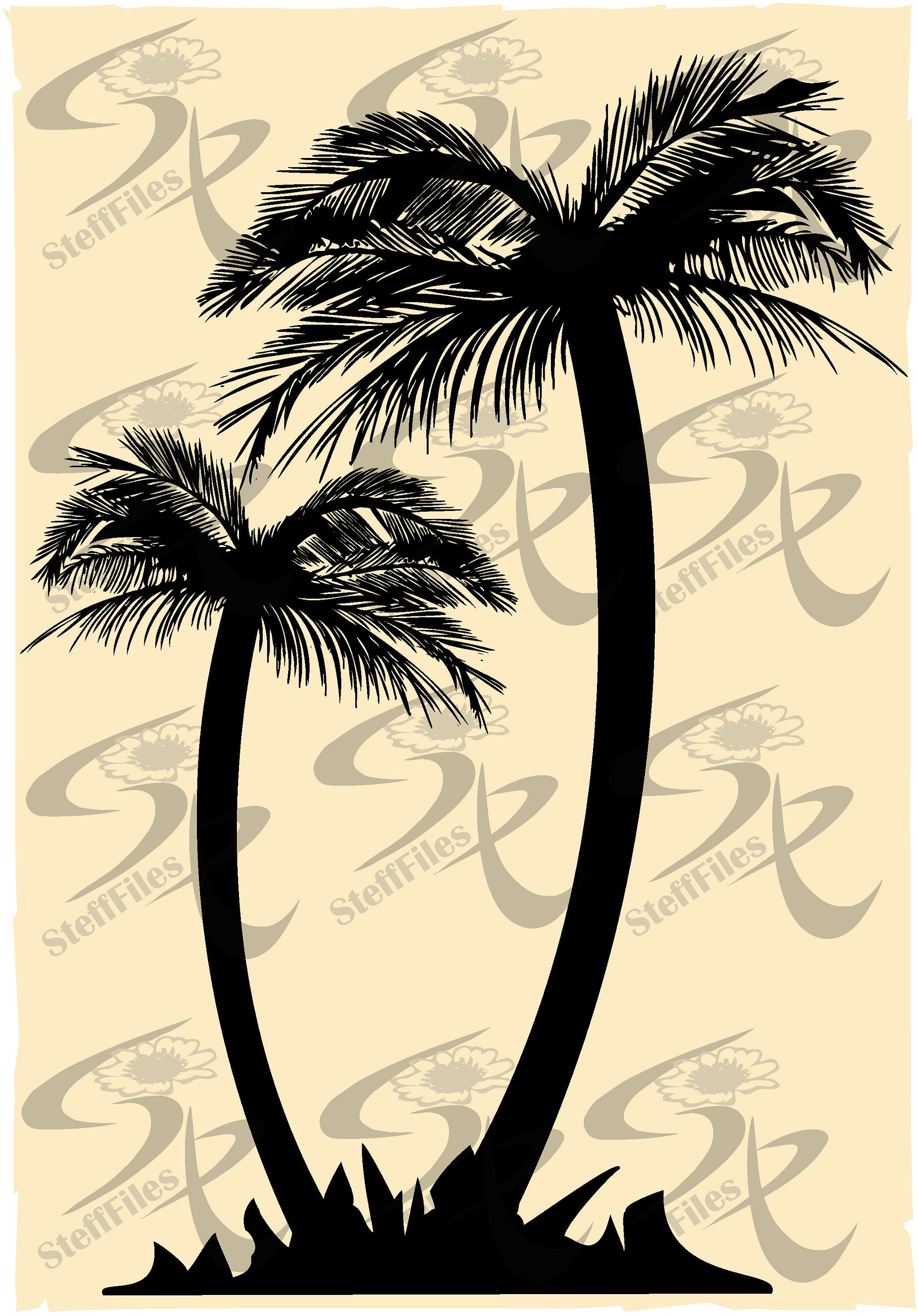 Vector PALM, Palms svg,Tree svg,silhouettes,SVG,DXF,ai
