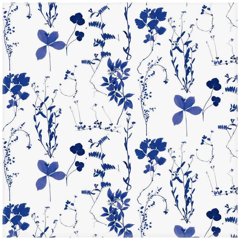 Herbario Designer Wallpaper in Royal 'MultiColor Blues