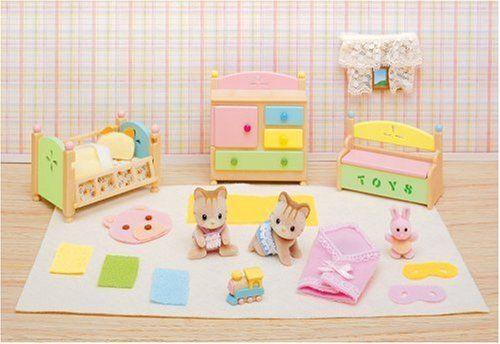 Nursery Set Calico Critters Sylvanian Families Miniaturen Fur Puppenhauser Puppen Miniatur