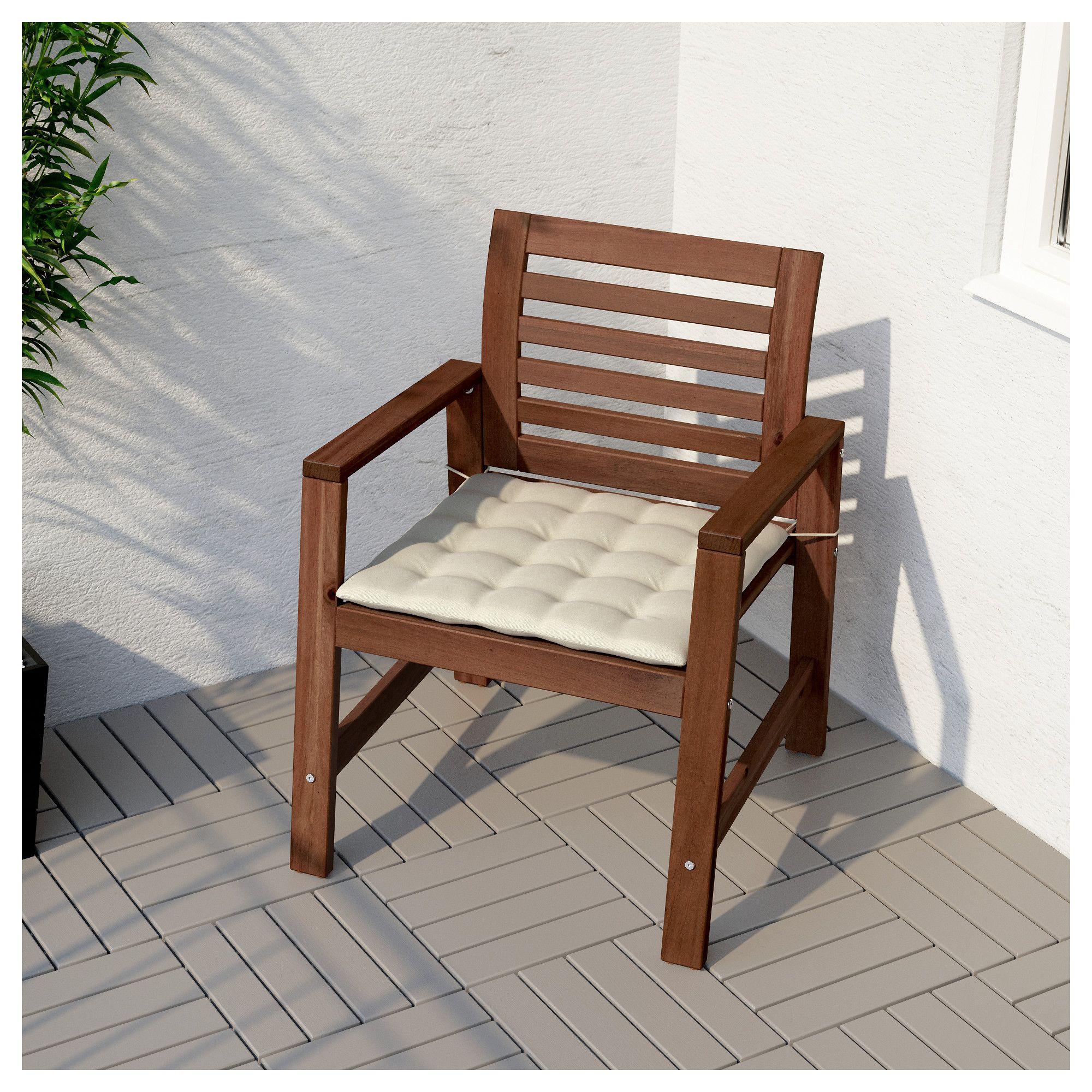 IKEA ÄPPLARÖ Armchair, outdoor brown stained | Outdoor