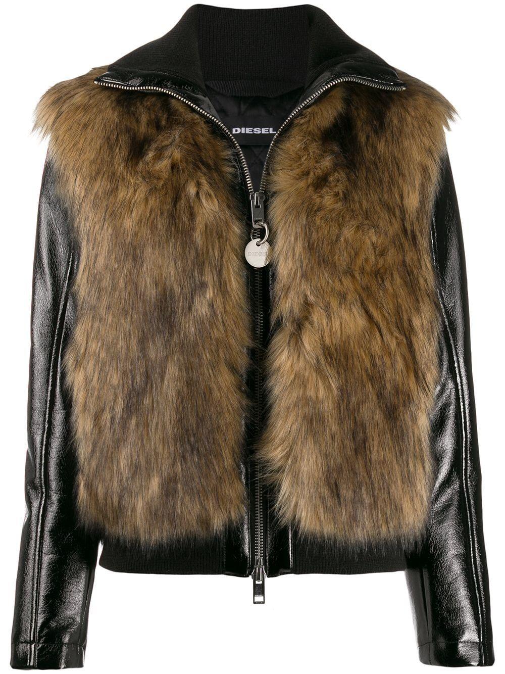 Diesel Faux Fur Detail Jacket Farfetch Diesel Clothing Jackets Diesel Fashion [ 1334 x 1000 Pixel ]