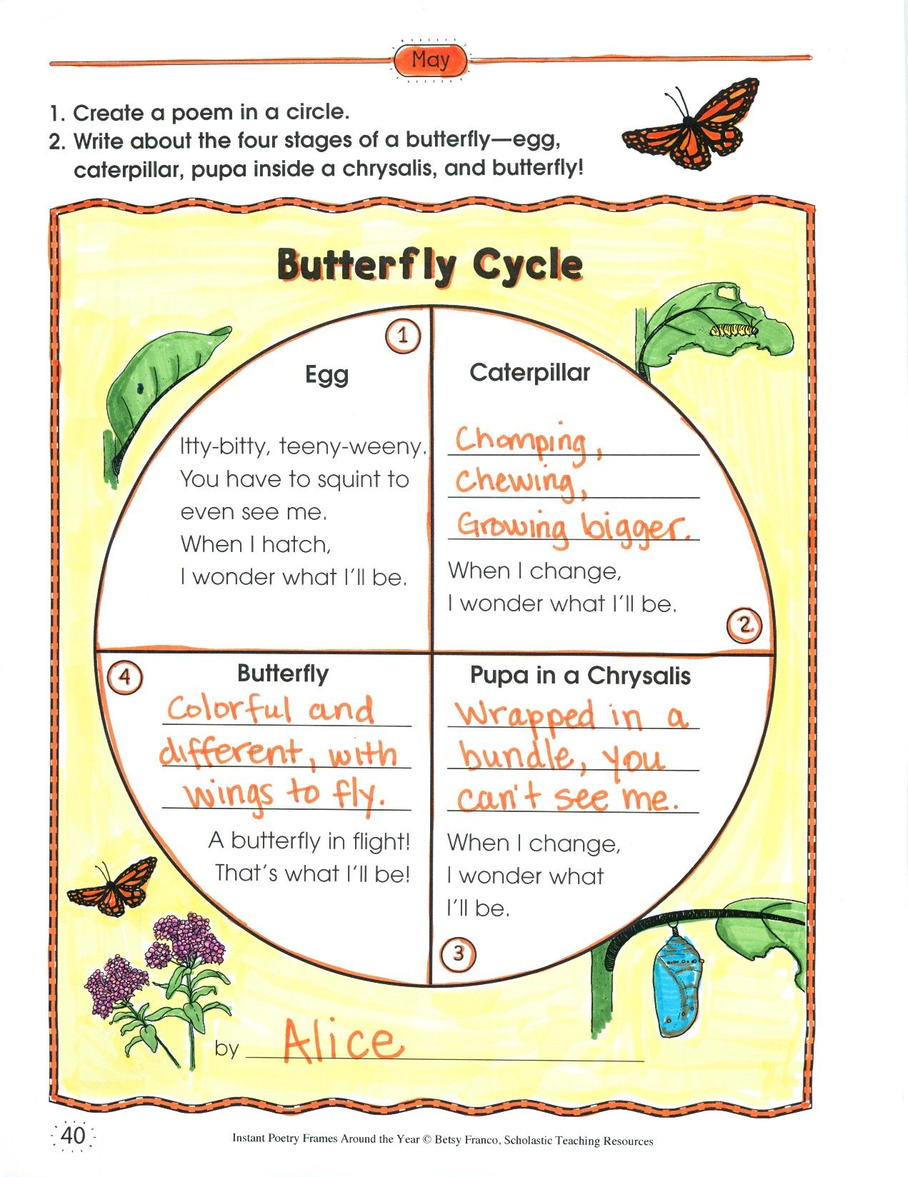 Here S A Fun Spin On A Poetry Frame Students Write A
