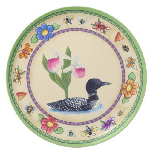 Sentimental Wedding Gift Ideas: Minnesota State Bird And Flower. Dinner Plates