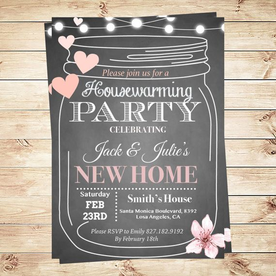 Housewarming Party Invitations Template - Housewarming BBQ Party - invitation download template
