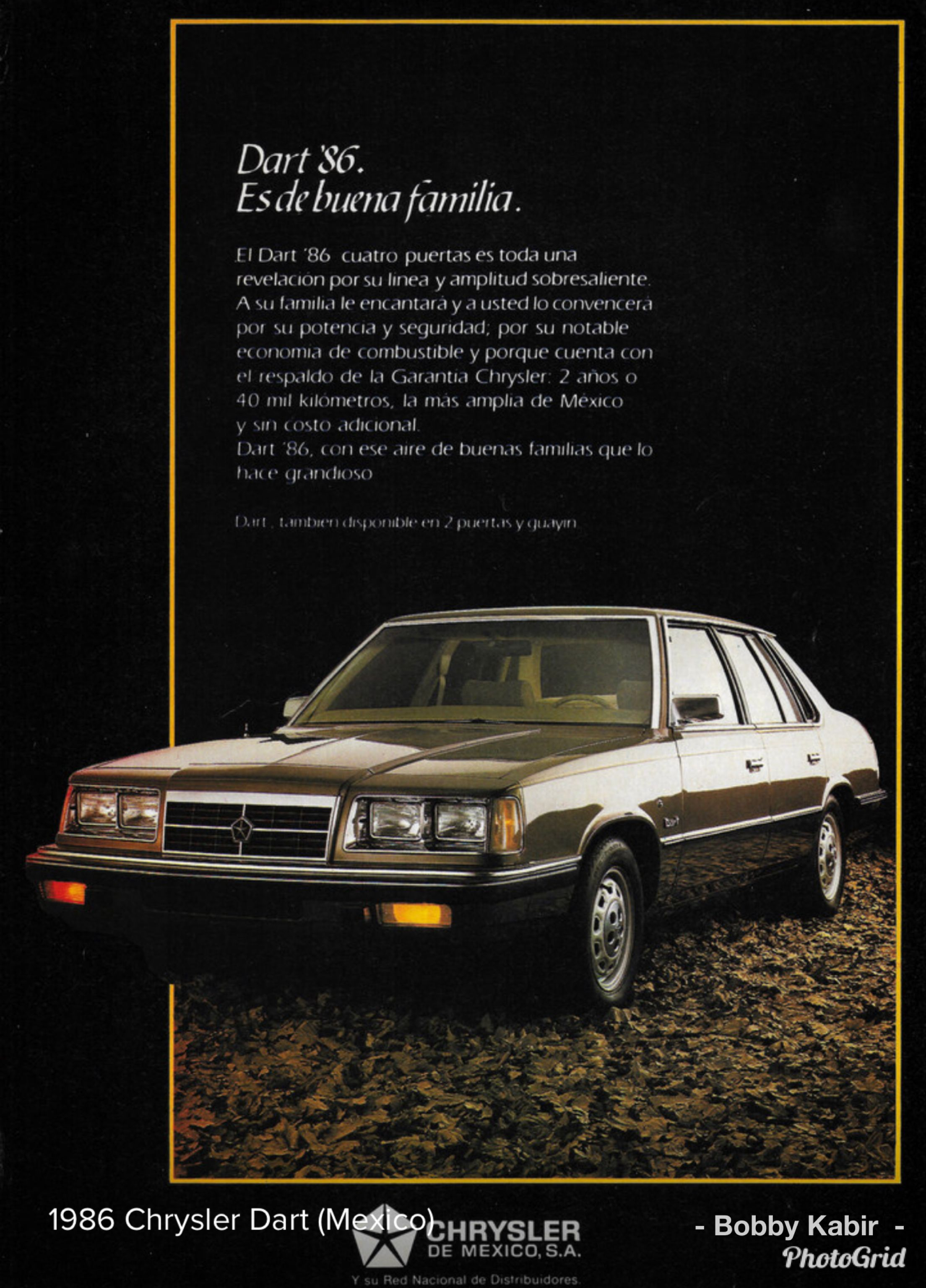 1986 Chrysler Dart Mexico By Michael On Flickr Car Ads Art