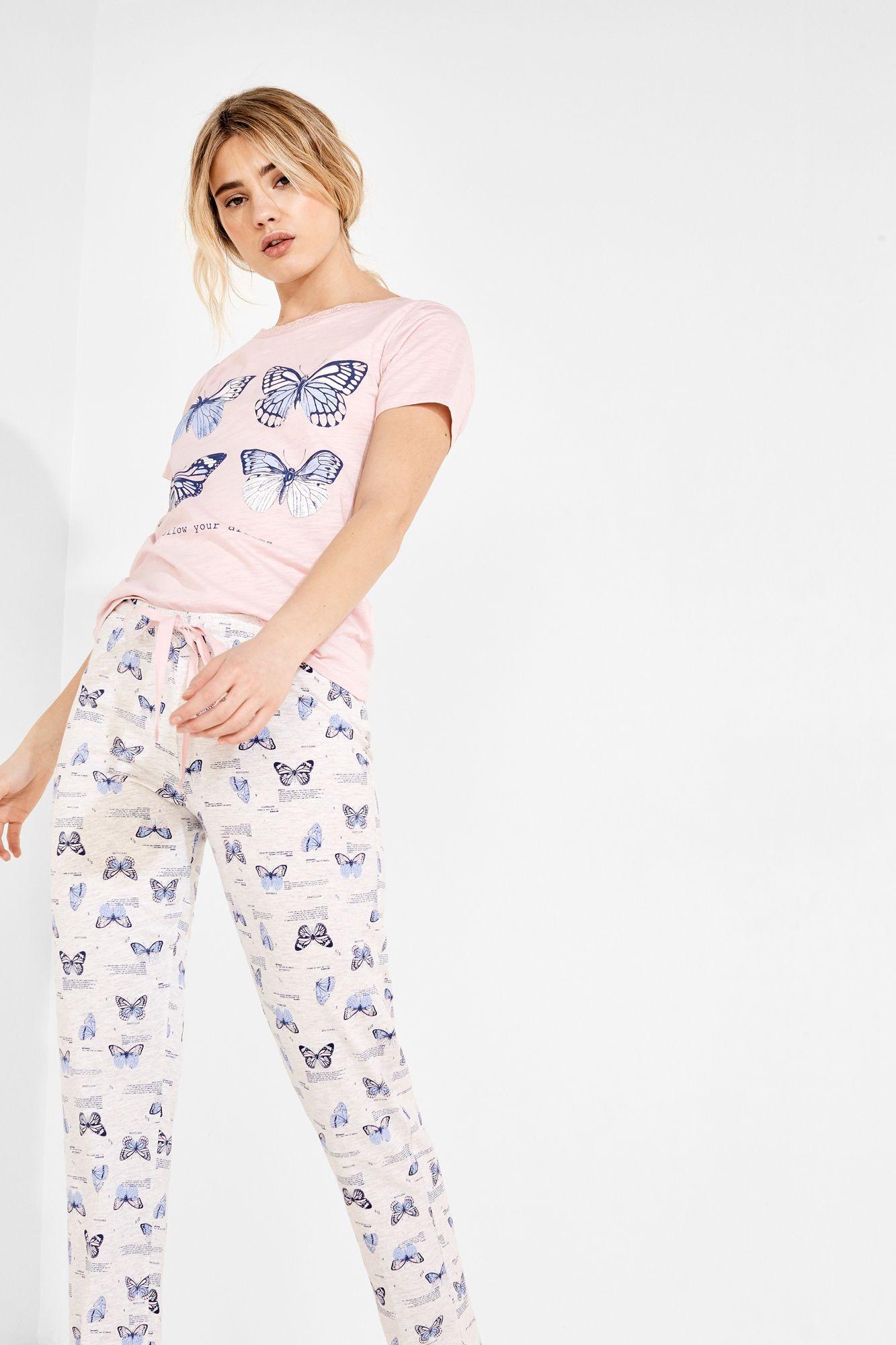 Pijama Largo Mariposas Pijamas Largos Women Secret Con
