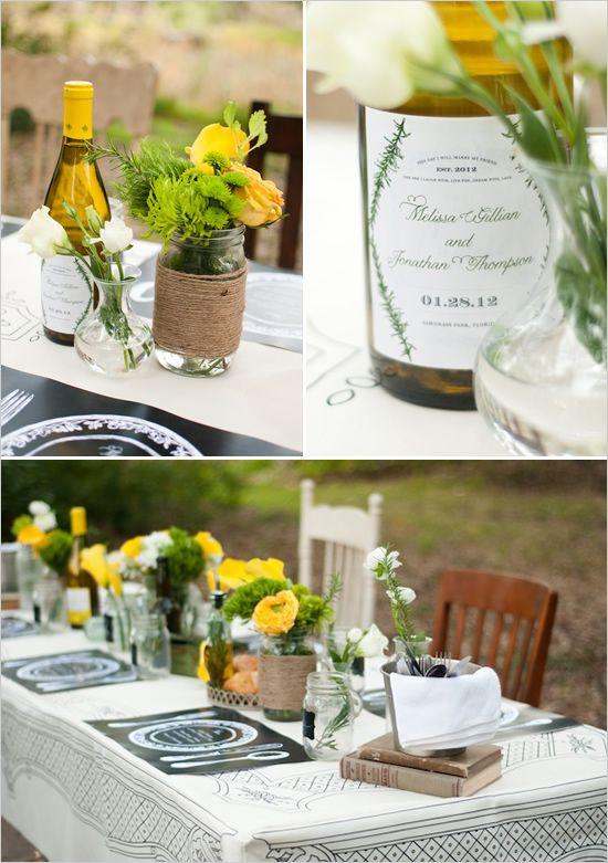 rustic table settings - rustic table decor ideas