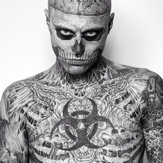 Tattoos In Black And White Zombie Boy Google Search Tatuagens De Zumbis Rick Genest Tatoo