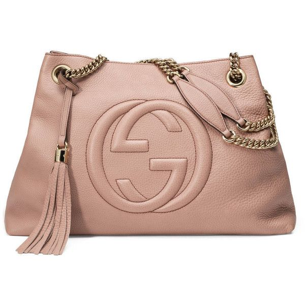 add17a797d3d Gucci Soho Leather Shoulder Bag ( 1,980) ❤ liked on Polyvore featuring  bags, handbags, shoulder bags, light pink, embossed leather handbags, ...