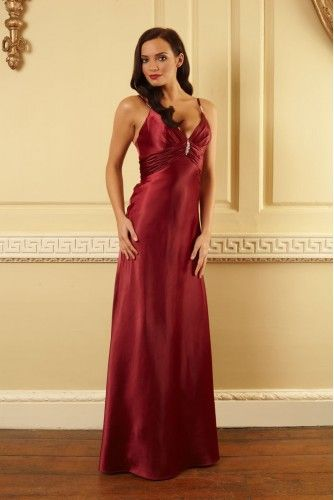 Klass Burgundy Evening Dress - Now with 40% OFF% use code SS40 during checkout.