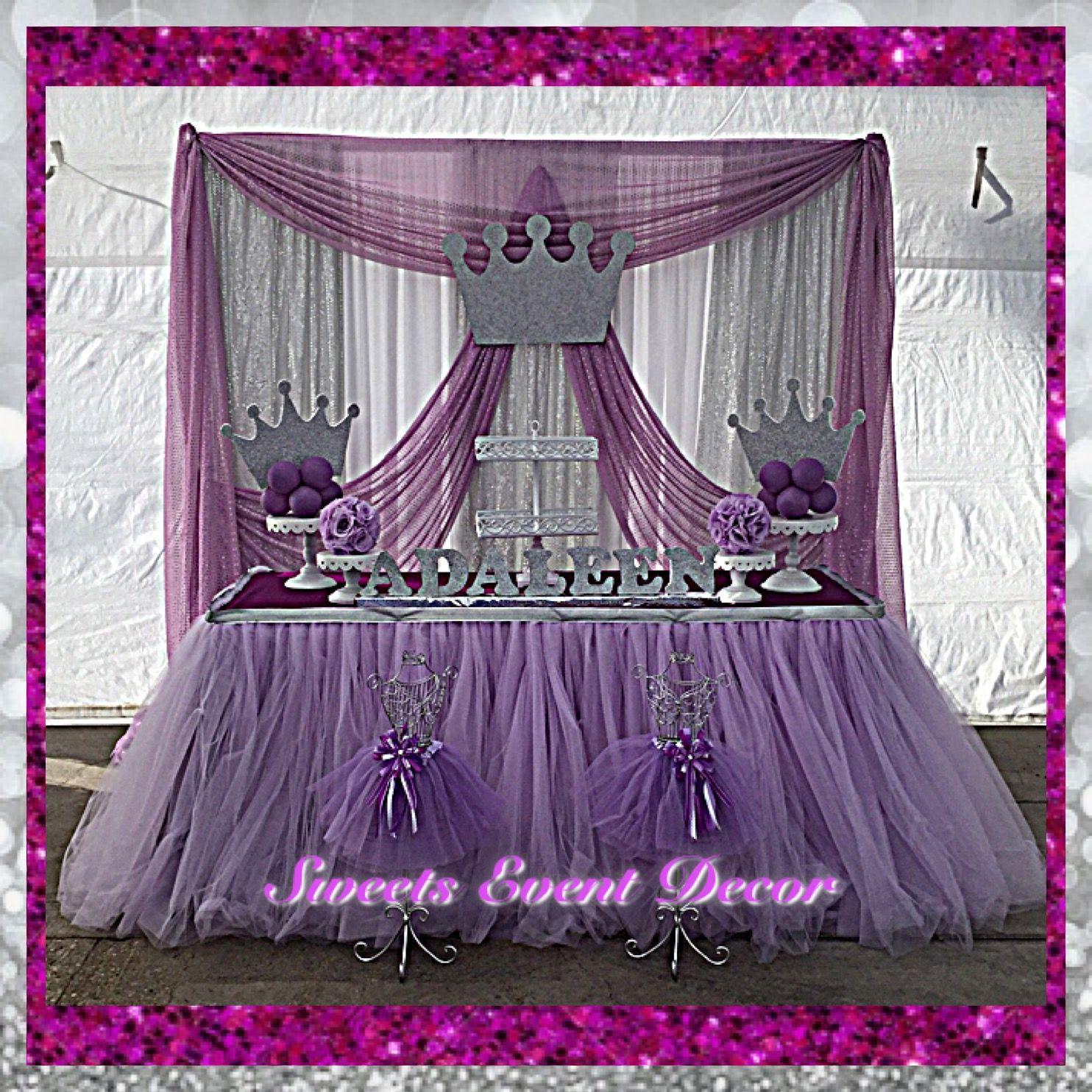 Princess Theme Fabric Decor By: Sweets Event Decor