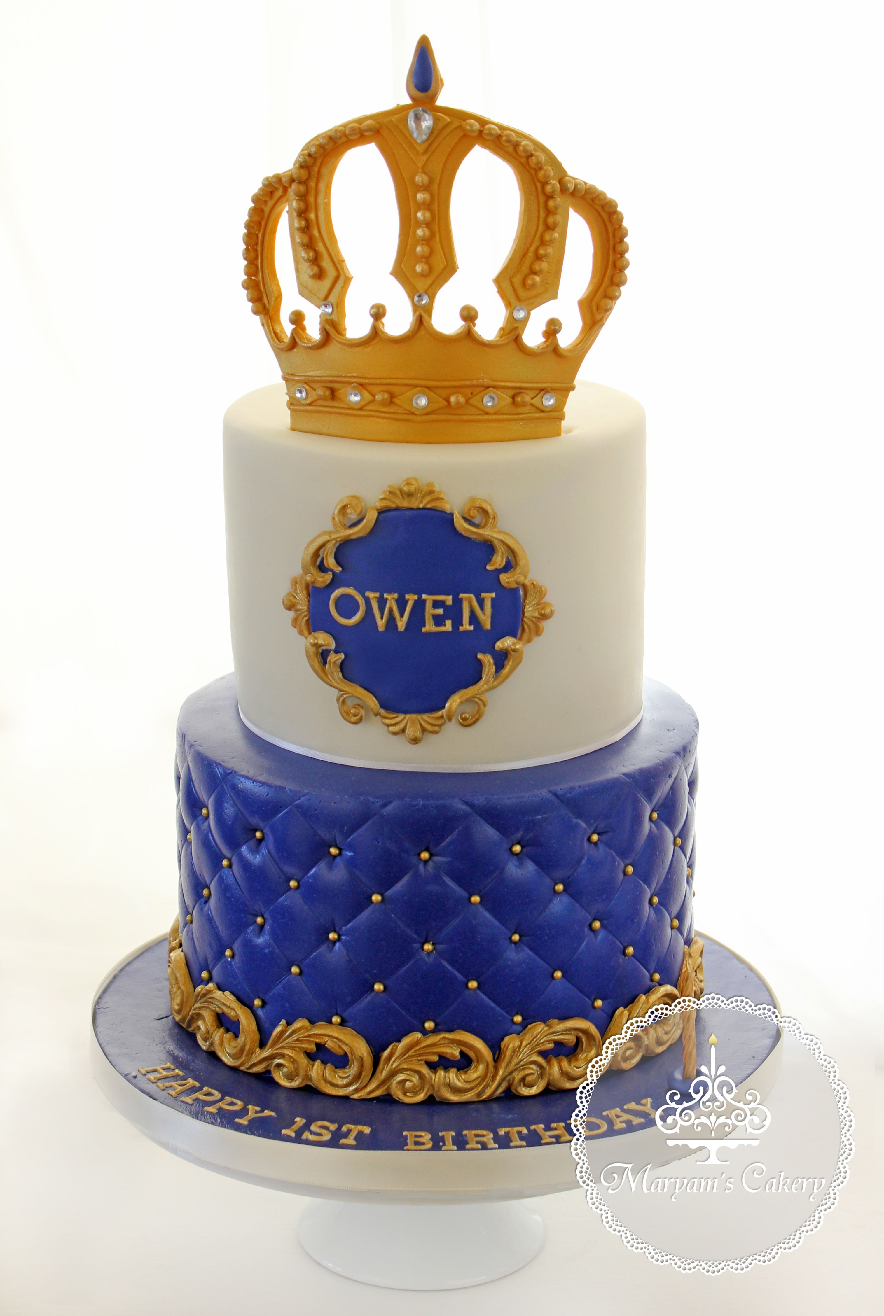 Royal Theme For 1st Birthday Cake By Maryam S Cakery Https Www