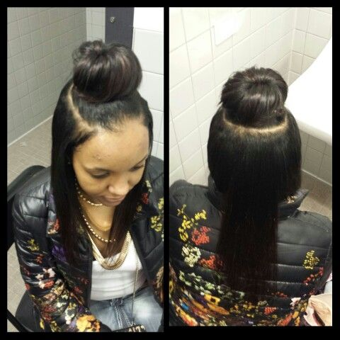 Hair Quick Weave Bun Goddess Hairstyles Hair Styles Weave Bun
