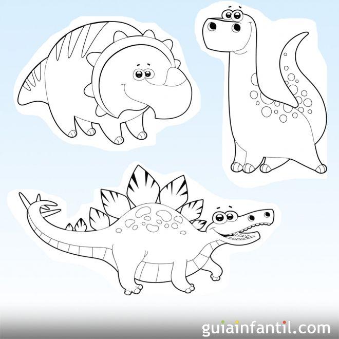 Dibujos de dinosaurios para imprimir y colorear con los niños ...